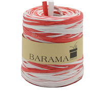 R4mm TTONE PAPER RAFFIA-Red/White