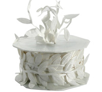 30mm SATIN LEAVES-Bridal White