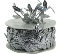 30mm SATIN LEAVES-Silver