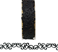 20mm ADHESIVE FILIGREE-Black