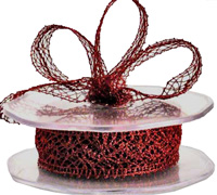 25mm W/E ELEGANT LACE-Red
