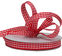 12mm WOVEN GINGHAM-Red