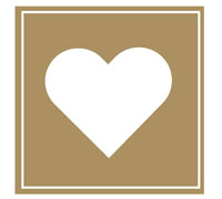 SQUARE HEART SEAL-Gold
