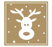 SQUARE REINDEER SEAL-Gold