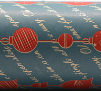 BAUBLE STRING WRAP- Washed Navy/Scarlet On Kraft