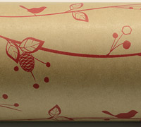 BOTANICAL WRAP-Natural Scarlet