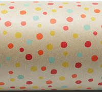 CONFETTI WRAP-Scarlet Yellow Tang on Kraft