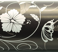 HIBISCUS FLOURISH WRAP-Chocolate White