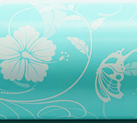HIBISCUS FLOURISH WRAP-Tiffany White