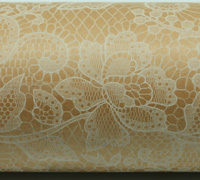 LACE WRAP-White on Kraft