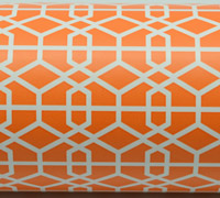 LATTICE WRAP-Tangerine