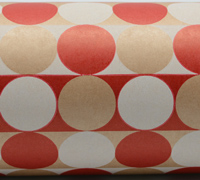 MULTI CIRCLE WRAP- Scarlet White on Kraft