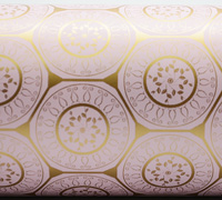 MOROCCAN INSPIRE WRAP- Gold on Pale Pink