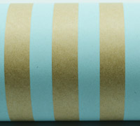 REGULAR STRIPE WRAP-Pale Blue On Kraft