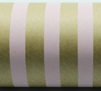 REGULAR STRIPE WRAP-Pale Pink On Kraft