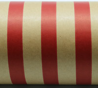 REGULAR STRIPE WRAP-Scarlet On Kraft