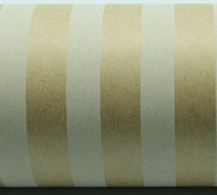 REGULAR STRIPE WRAP-White On Kraft