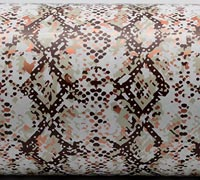SNAKE SKIN WRAP-Beige/Brown/Copper On White