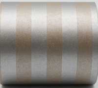 SOLID STRIPE WRAP-Silver on Kraft