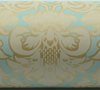VICTORIAN WRAP-Pale Blue White On Kraft
