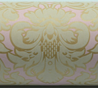 VICTORIAN WRAP-Pale Pink White On Kraft