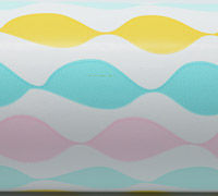 WAVE WRAP-Yellow Pale Pink Tiffany