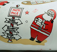 SANTA SIGN WRAP-Scarlet