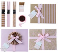 GIFT WRAPPING SET - Pretty in Pink