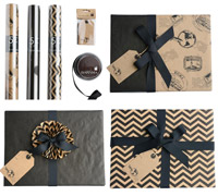 GIFT WRAPPING SET - Bold & Black