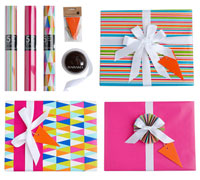 GIFT WRAPPING SET - Something in Hot Pink